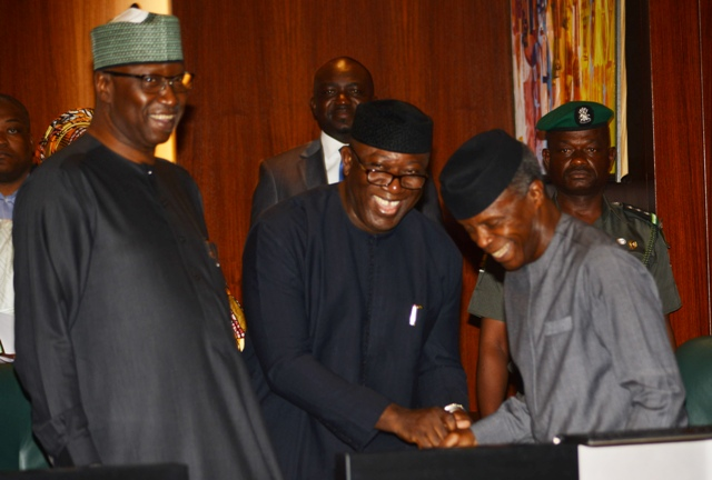 Fayemi Is The Shining Star, As Osinbajo Presides Over NEC Meeting 1
