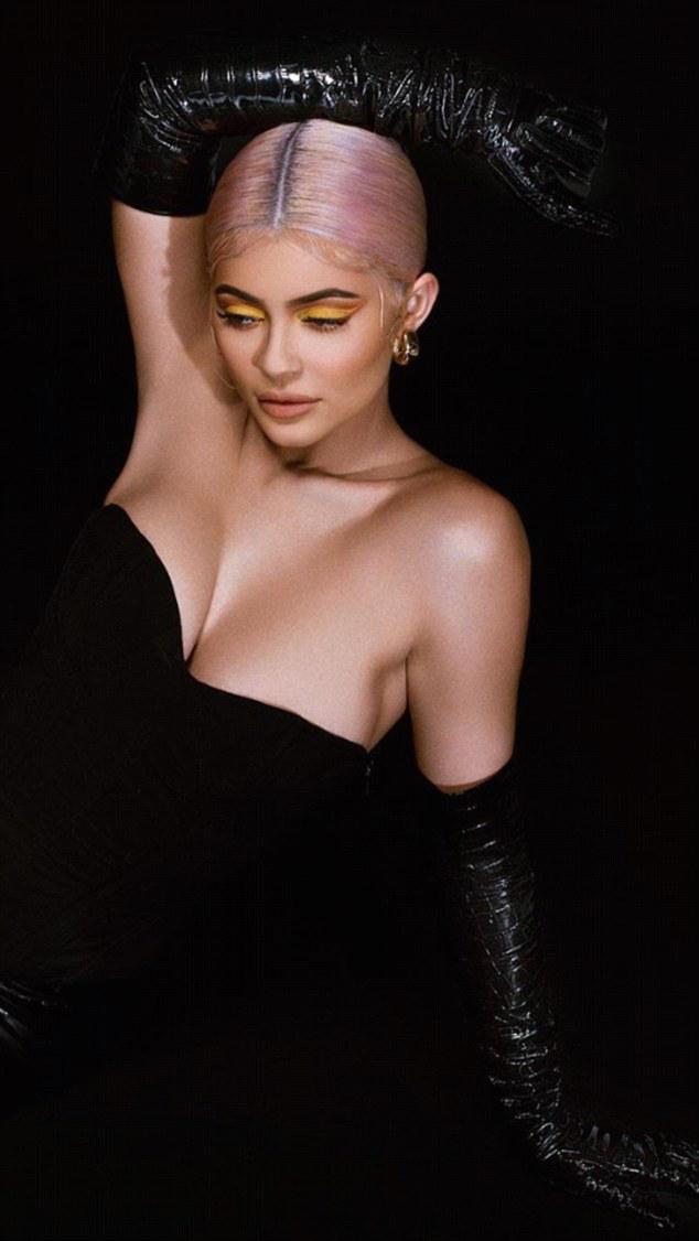 Kylie Jenner Goes Strapless In Leather For Halloween Makeup Collection 2
