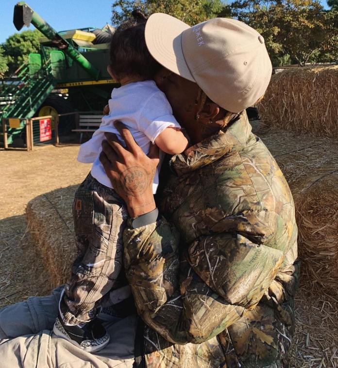 Family Goals: Kylie Jenner And Travis Scott Takes Stormi Webster For Her First Pumpkin Patch 5