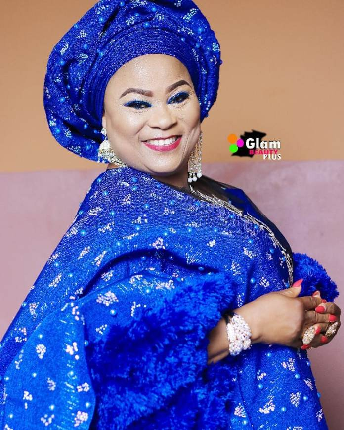 Aso Ebi Style: Sola Sobowale Looks Like A Royalty In This Stunning Blue Piece 1