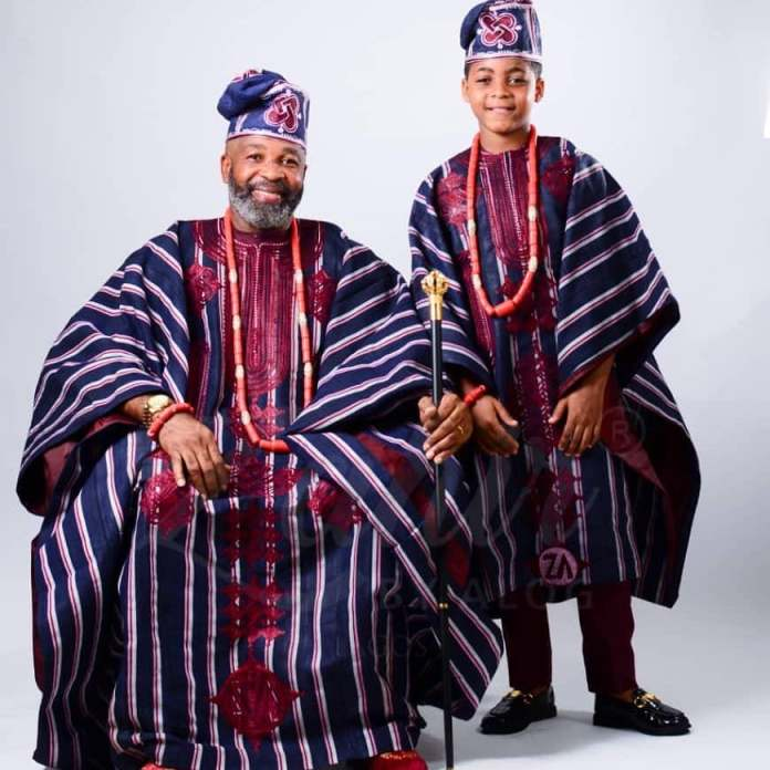 King And Prince! Yemi Solade Shares Adorable Photos With His Son 1