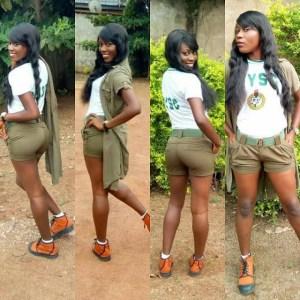So Stew: Slay Queen Corper Turns Her Khaki Wear To Mini Skirt 2