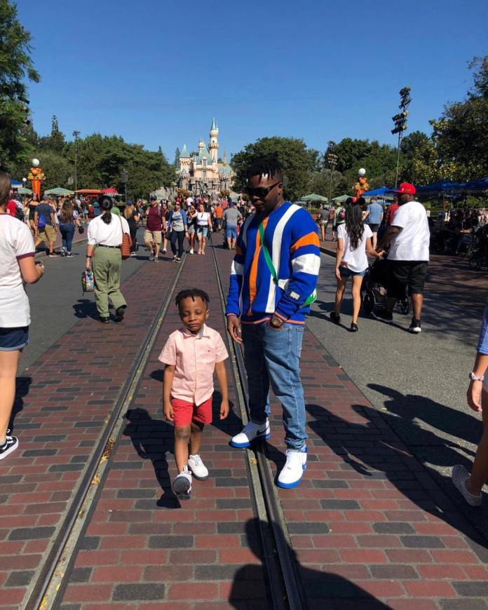 Family Trip! Olamide And Son Are Having The Time Of Their Life In Disneyland 1