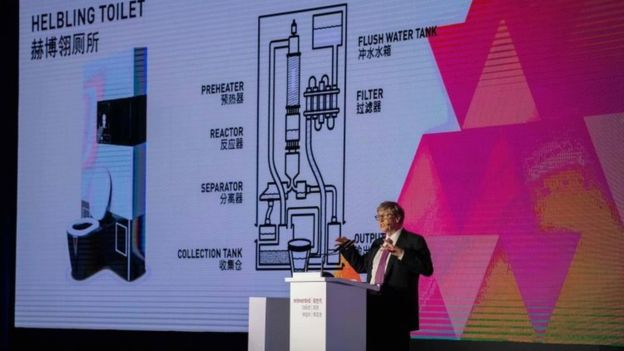 Poo In Hand! Bill Gates Unveils New Reinvented Toilet Technology 2