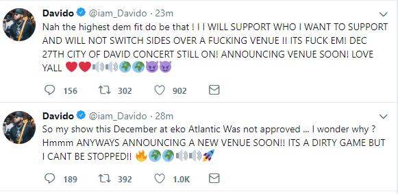 Reason Davido's Eko Atlantic Concert Was Cancelled Revealed 3