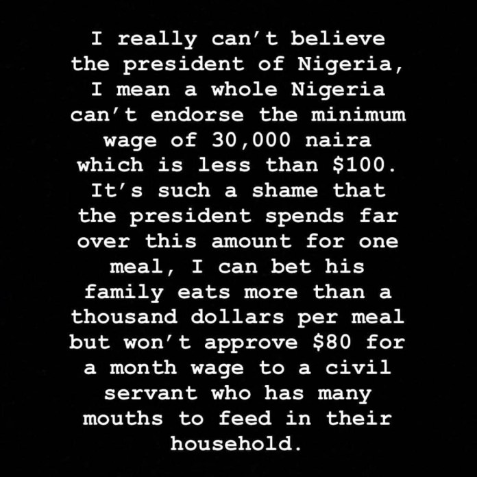 Buhari Can't Approve ₦30,000 Minimum Wage, But His Family Spends More Than That On Meals - Hushpuppi 2
