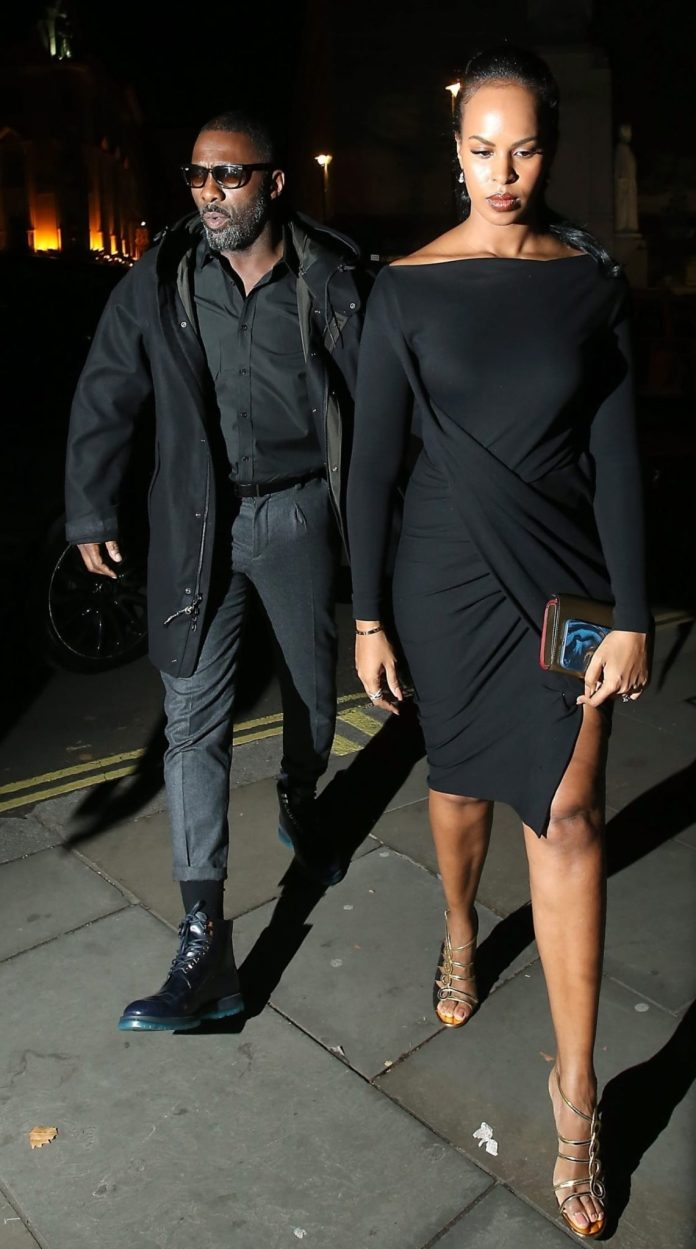 Hot couple Alert! Idris Elba And Fiancee Sabrina Dhowre Step Out In Style 3
