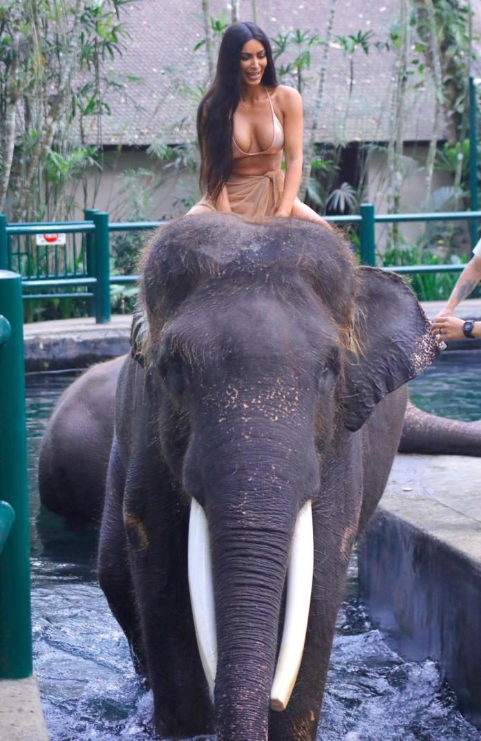 Animal Cruelty? This Is What Kim Kardashian Has To Say About Her Elephant Ride In Bali 1