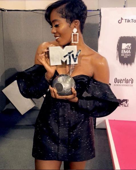 Winner! Tiwa Savage Snags Best African Act Award At 2018 MTV EMAs 1