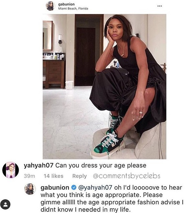 Ouch! Gabrielle Union Claps Back At Troll 2