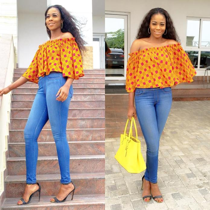 Ankara Style: Step Out In Style With These Trending Ankara Top-on-Jeans Designs For Your Outings 8