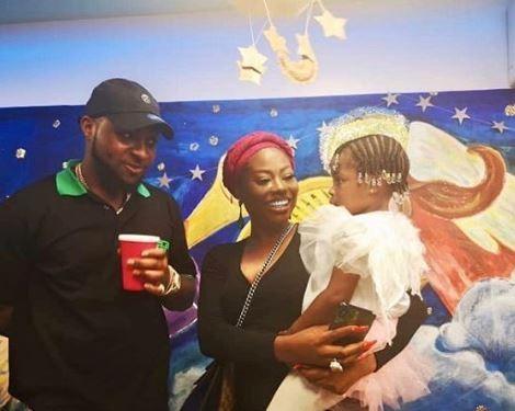 Awww! Davido And His Baby Mama Sophia Momodu Reunite For Daughter's School Party (Photos) 3