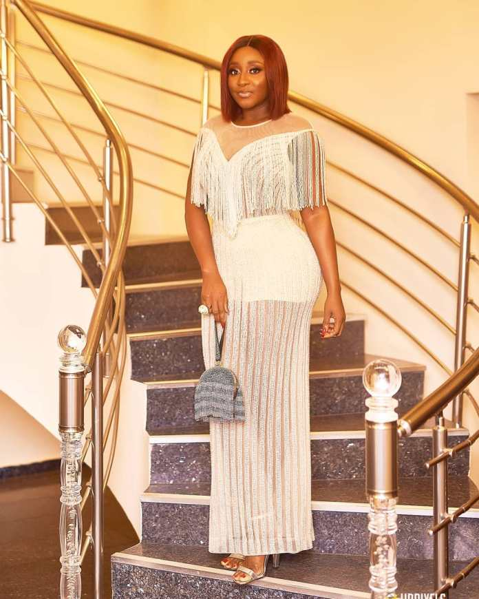 Celebrity Beauty Of The Day: Ini Edo Oozes Sexiness In A Beautiful White Gown 2