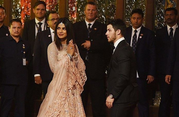 Priyanka Chopra Stuns In Stuning Lehenga As She And Husband Nick Jonas Attend Lavish $100m Wedding In India 5