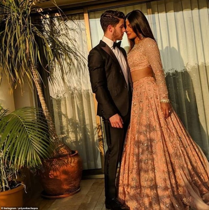 Priyanka Chopra Stuns In Stuning Lehenga As She And Husband Nick Jonas Attend Lavish $100m Wedding In India 4