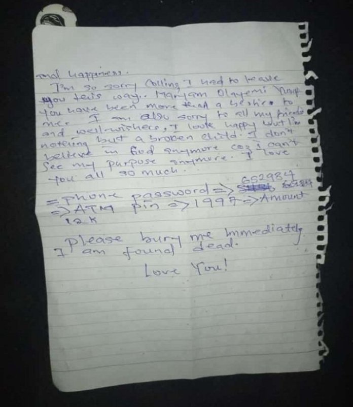 My Parents Are Responsible For My Death - Girl Cries Out In Suicidal Note 3