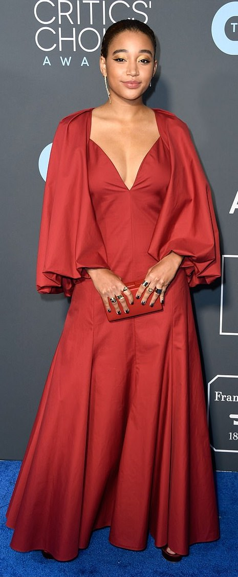 Celebrity Beauty Of The Day: Amandla Steinberg Is A Diva In Her Sessy Red Dress 1