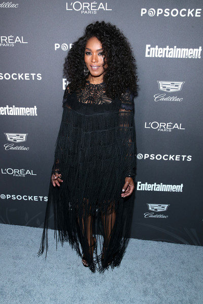 Daily Beauty Look: Angela Bassett Oozes Black Beauty With Voluminous Long Curls At Entertainment Weekly Party 2