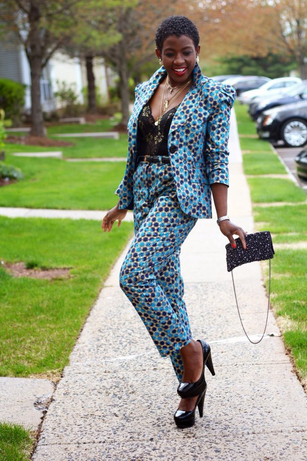 Ankara Style: Boss Up Your Fashion In These 5 Stunning Ankara Suits And Pants 1