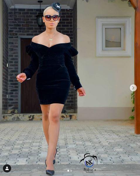 Style Stalking: BBnaija Nina Is A Beauty In Little Black Dress 1