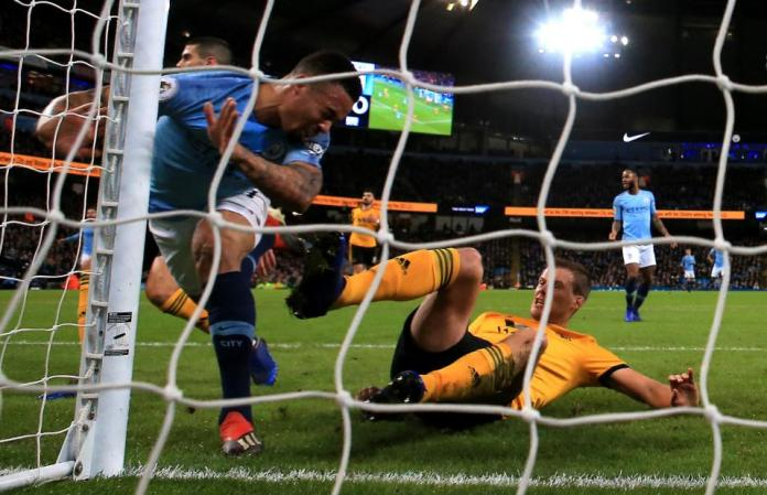 Manchester City 3 Wolves 0:Jesus' Double Reduces Liverpool's Lead At The Top To Four Points 4