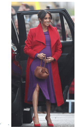 I Am 6 Months Pregnant Now - Meghan Markle Reveals As She Stuns In Purple Dress 2