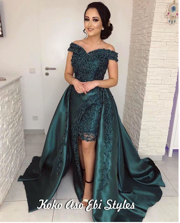 Aso Ebi Style: Green Is The Colour Of Freshness And These Five Designs Are Just That! 5