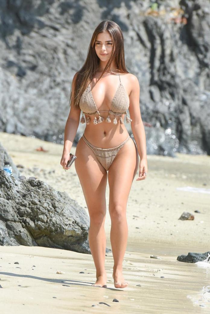 Sun, Sea And Swimwear: Demi Rose Flaunts Phenomenal Figure In A Fringed Bikini On Thailand Holiday 5