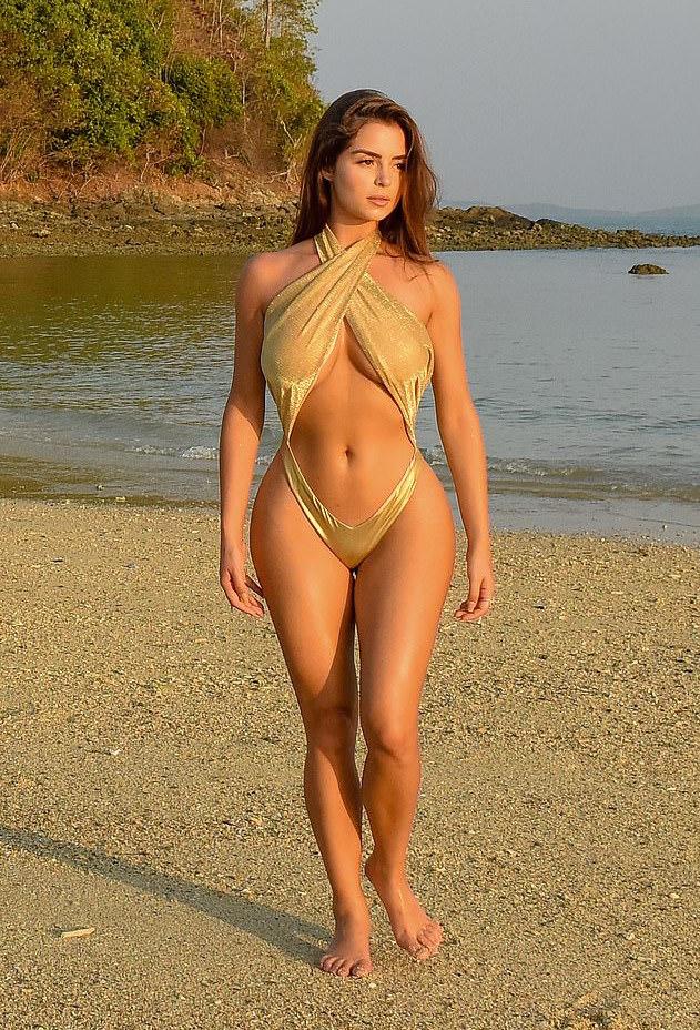 Sun Sea Swimwear: Demi Rose Set Pulse Racing As She Puts Her Curves On Parade 4
