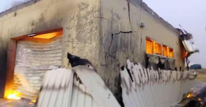 What Is Going On? Another INEC Office Gets Burnt In Anambra 3