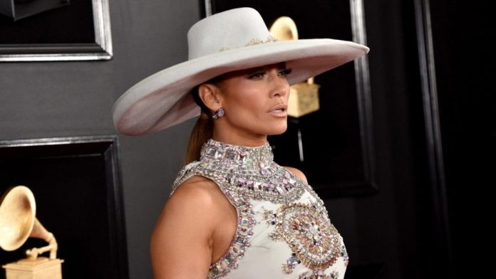 Jennifer Lopez Dazzles In Ralph & Russo Embellished Gown For The 2019 Grammys 1