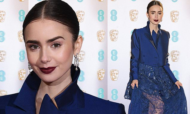 Style Stalking: Lily Collins Turn Heads In Daring Givenchy Haute Couture At BAFTAs 2019 1