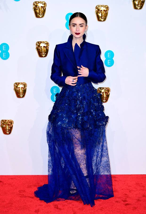 Style Stalking: Lily Collins Turn Heads In Daring Givenchy Haute Couture At BAFTAs 2019 3