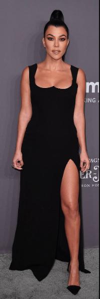 #SisterSister: Kim And Kourtney Kardashian Dominates AmfAR New York Gala In Black 7