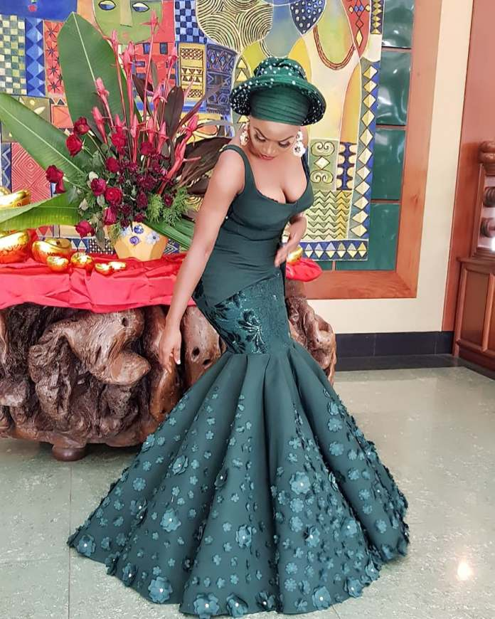 Aso-Ebi Styles: 5 Nigerian Female Celebrities Who Slayed With Their Outfit At Richard Nnaji's Wedding 1