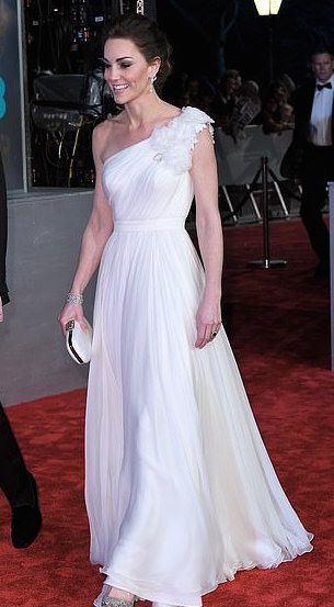 Style Staking: Kate Middleton Stuns In Alexander McQueen Gown For Bafta Awards 3