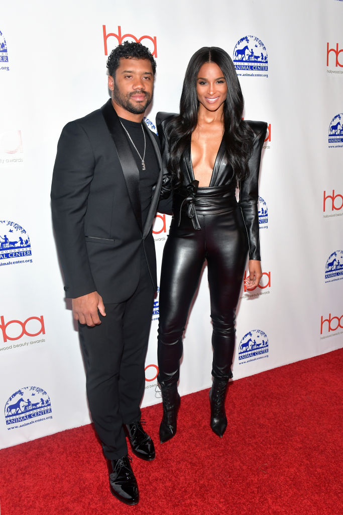 Ciara And Russel Wilson Step Out In Style For Hollywood Beauty Awards 3