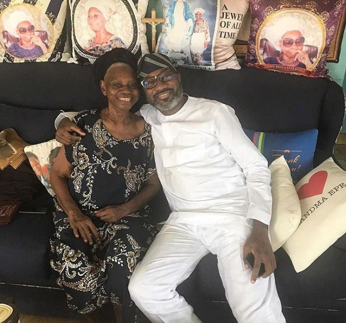 She is The Most Important Thing Before I Start My Week - Femi Otedola Cozies Up To His Mother 1
