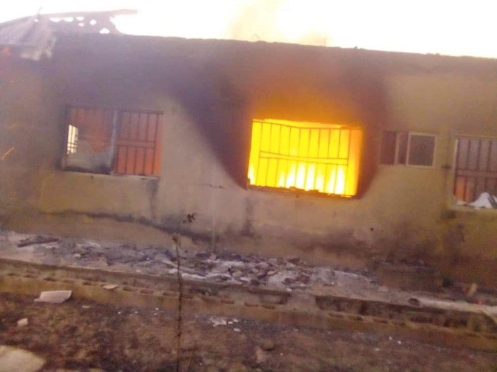 Drunk Security Officer Destroys INEC Office In Plateau, Just A Week To General Elections 3