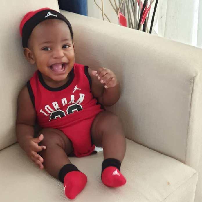KOKO Junior: Jayce Jeremi Is Absolutely Cute In Red Baby Jordan Ensemble 6