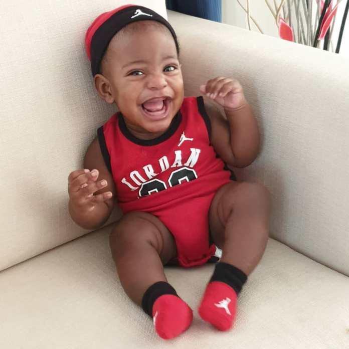 KOKO Junior: Jayce Jeremi Is Absolutely Cute In Red Baby Jordan Ensemble 7