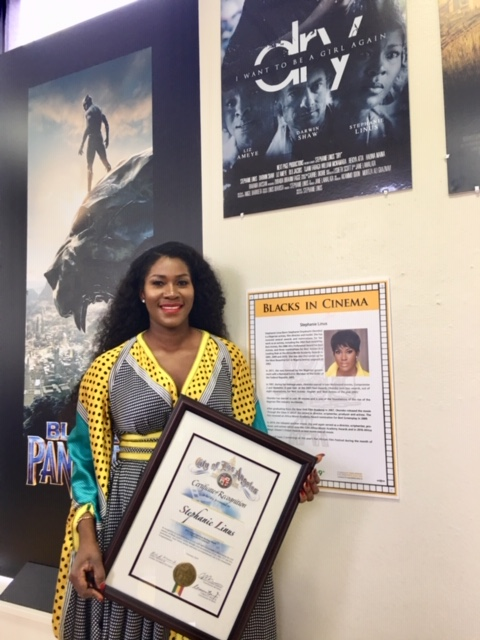 Stephanie Linus Gets Special Recognition For DRY At The Black History Month Ahead of Pan African Film & Arts Festival (PAFF) Screening 1