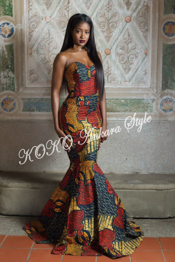 Ankara Style: Fabulous Is The Word For These Five Mermaid Ankara Gown Styles 2