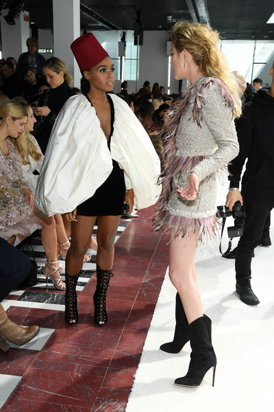 Who What Wear: Janelle Monae Reigns Supreme In Giambattista Valli Red Fez 2