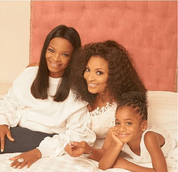 Aww! Ex-beauty Queen Ibidun Ituah-Ighodalo, Her Mum And Daughter Her Serving Generational Beauty Goals 1