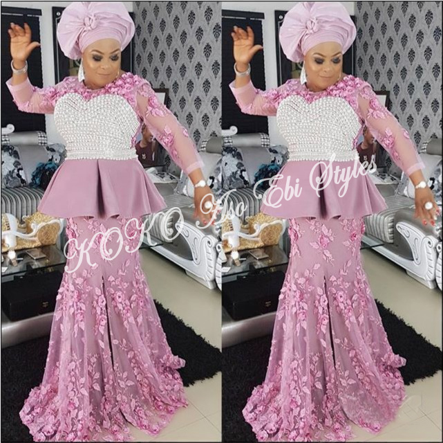 Five Extremely Fabulous Long Aso Ebi Styles That Will Leave You Swooning 1