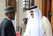 Buhari and Emir-of-Qatar-Qatar-Sheikh-Hamad-AlThani