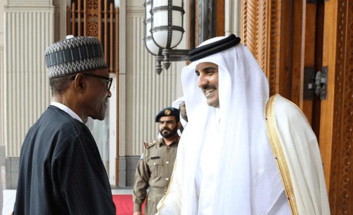 Buhari and Emir-of-Qatar-Qatar-Sheikh-Hamad-AlThani