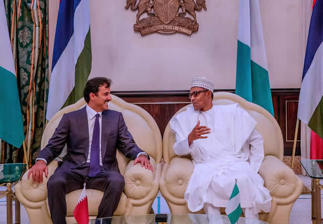 The Insider: Exclusive Photos Of President Buhari Hosting The Emir Of Qatar 3