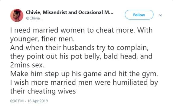 Feminist Tells Married Nigerian Women To Cheat On Their Husbands For This Bizarre Reason 2